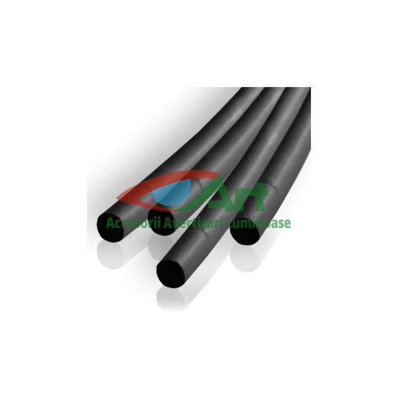 Tub termocontractant negru 2,5mm x100cm 10buc/set [6]